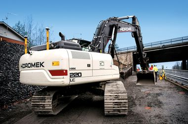 Excavator in Tampere
